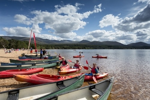 Loads of activities and things to do on Loch Morlich